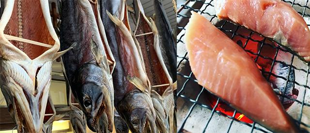 塩引き鮭の写真